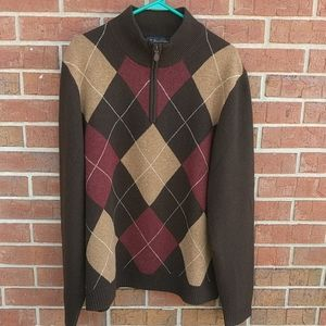 Brooks Brothers Scottish lambs wool pullover XL